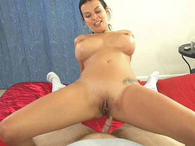 Pornstar Bailey riding on a two inch dick