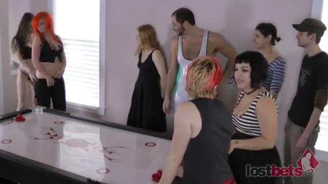 1 Amateur Movies - Strip Air Hockey with Aubrey, Belle, Cherry, and Devon