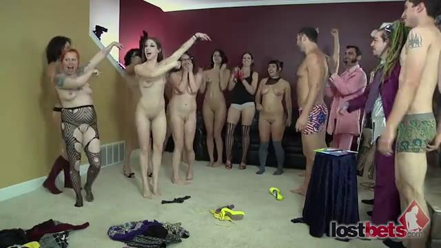 4 Amateur Movies - Strip Spinner with Ten Girls