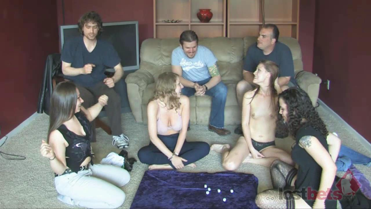 4 Amateur Movies - Estonian Roulette with Cara, Sarah, Candi, and Zayda (HD)