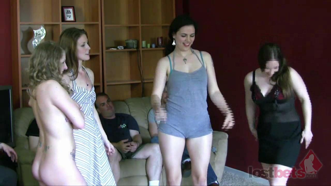 4 Amateur Movies - Strip Bizz-Buzz with Sarah, Kandie, Zayda, and Cara (HD)