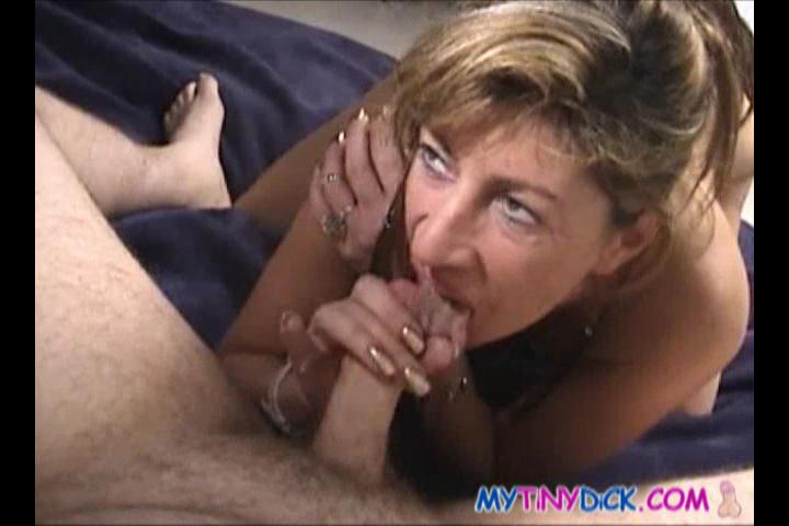 3 Small Cock Movies - Slutty babe eating his cum after a great blowjob
